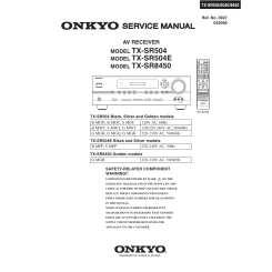 ONKYO TX-SR504 - Service Manual Immediate Download