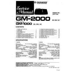 pioneer gm1000 service manual immediate download rh manualscenter com