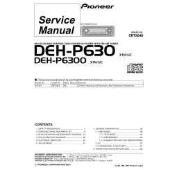 pioneer deh p6300 wiring diagram pioneer deh p6300 service manual immediate download  pioneer deh p6300 service manual