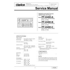 CLARION PP-2449H-C - Service Manual Immediate DownloadManualsCenter.com